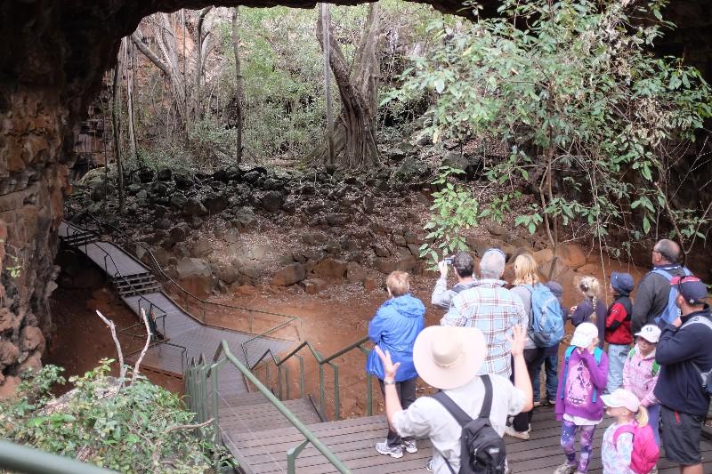 Lava tube caves