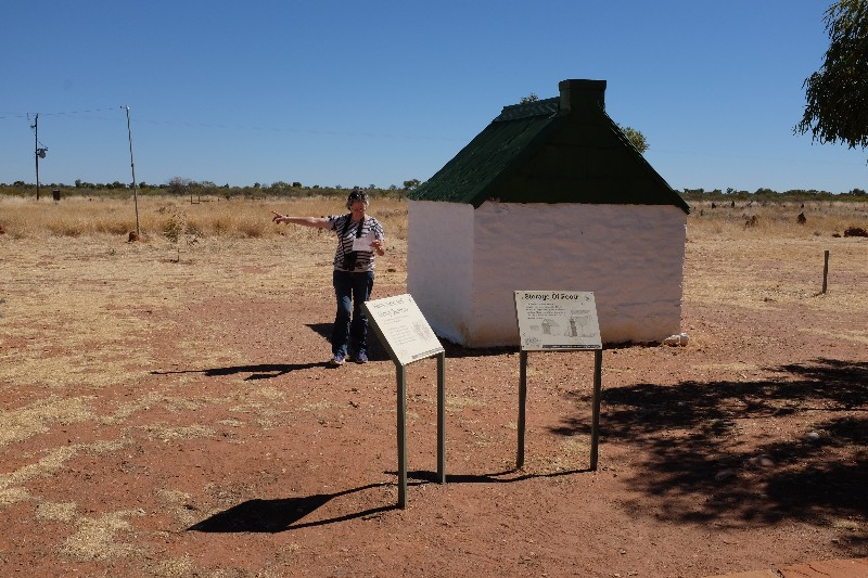 Trainee tour guide at Tennant Creek Overland Telegraph Station