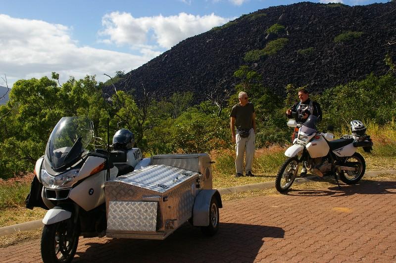 John and bikers at Black Mountain