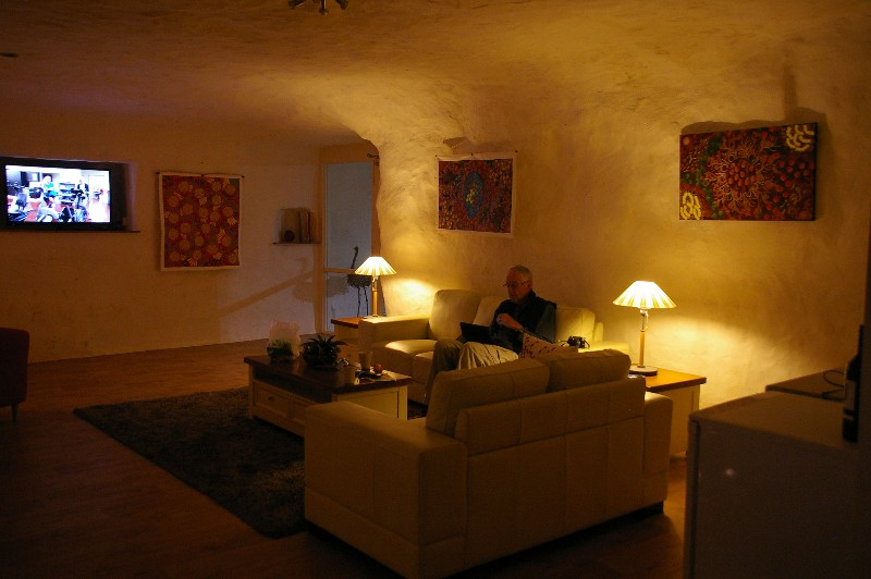 John and our luxurious living room