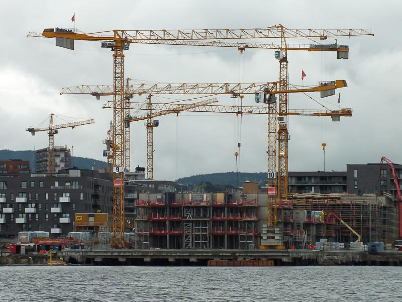 Bauarbeiten im Osloer Hafen