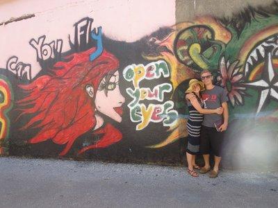 Erin and Evan and Graffiti