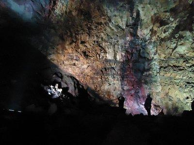Inside the volcano.