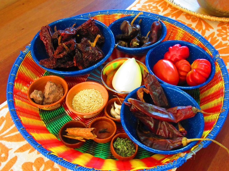 Mole Coloradito ingredients