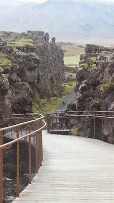walk through the rocks