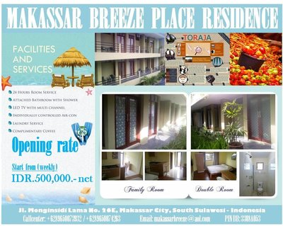 Makassar Breeze Place Residence - Flyer