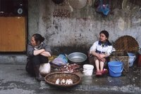Fish sellers in Hanoi