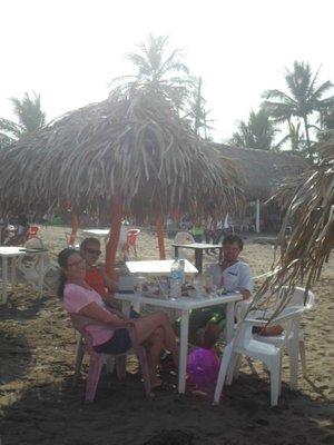 Trevor Chip and I Eating at La Playa
