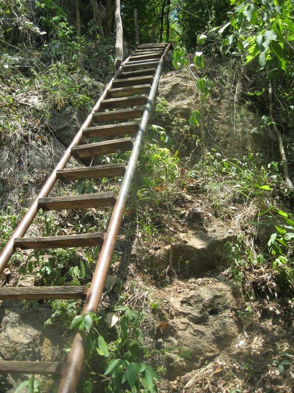Cascadas de Micos getting to the bottom of the falls