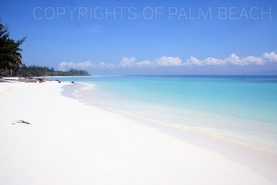 9. View of the long stretch of white pristine beach