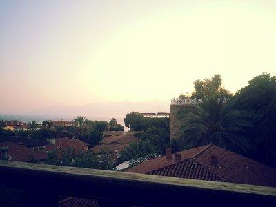 Antalya Old Town and sea