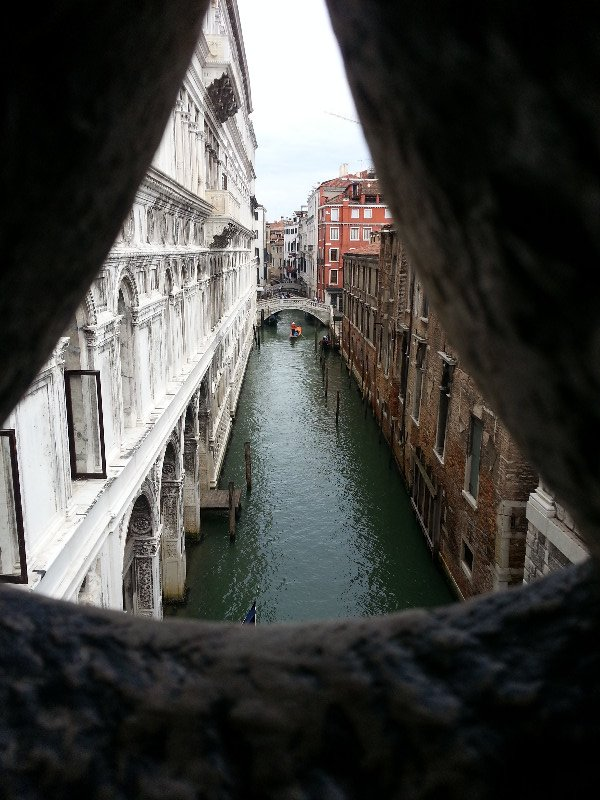 Venice - a canal from the Bridge of Sighs