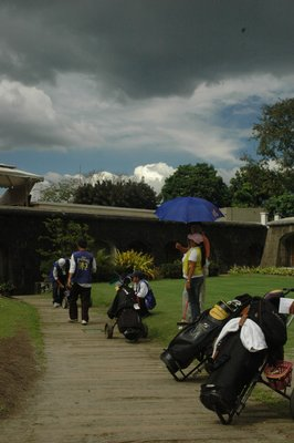 Golfers in Intramuros, Manila