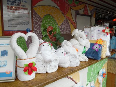 Carnival Spirit Cruise Ship Towel Animals