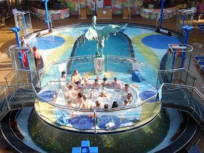 Carnival Spirit Cruise Ship Pool Deck