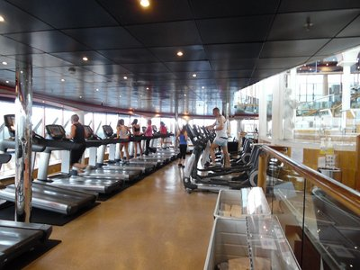 Carnival Spirit Cruise Ship Gym