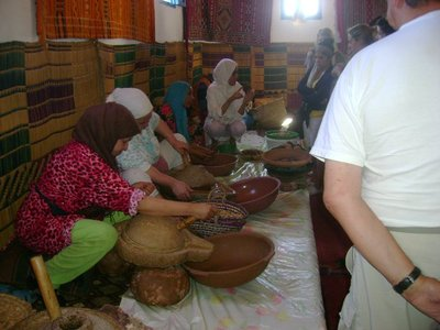 The locals showing how to make foods from scratch