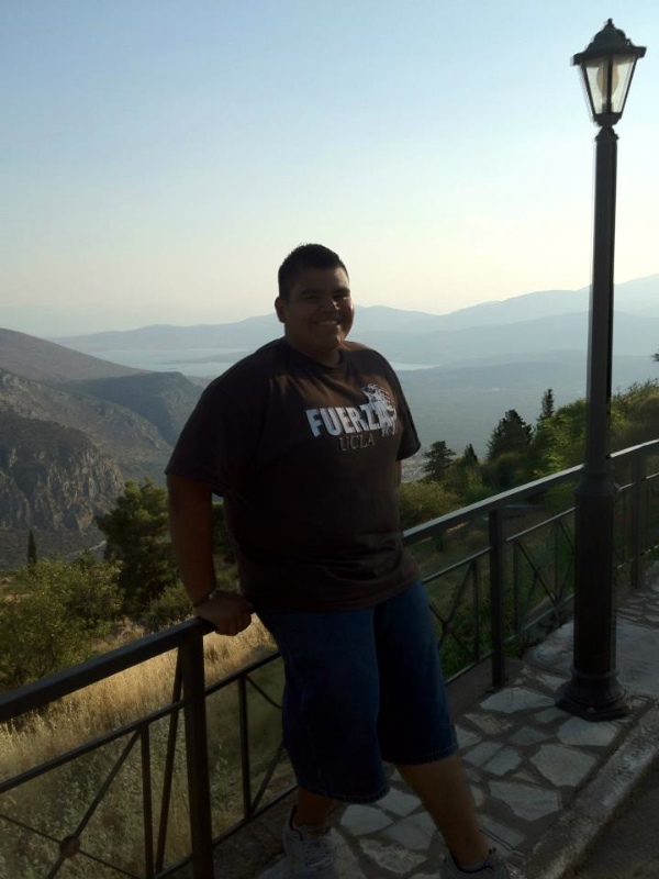 The city of Delphi had a high elevation