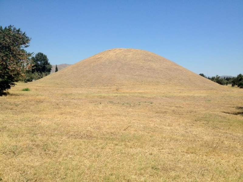 A mound where 192 Athenian soldiers are buried after the Battle of Marathon