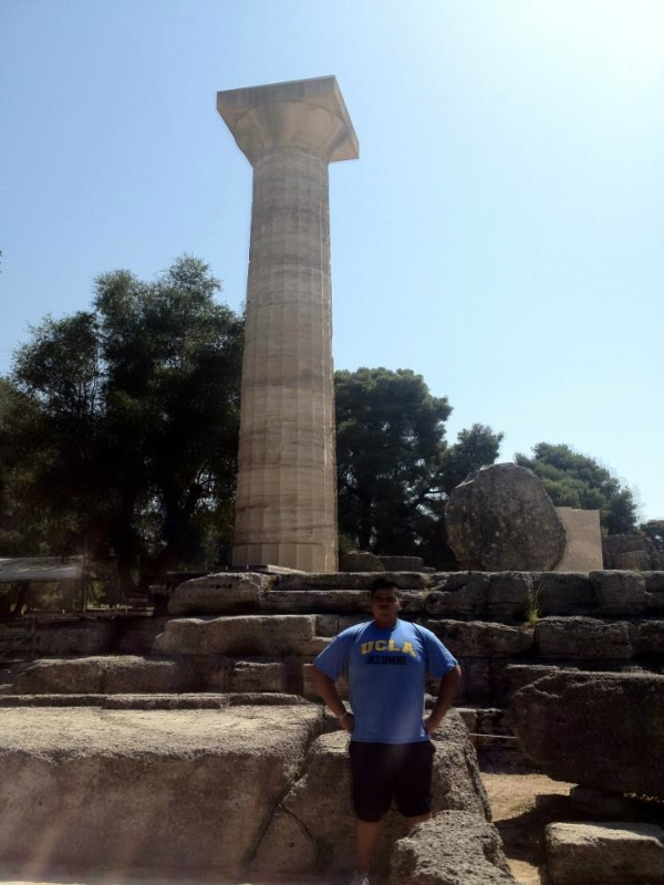 Right next to the Temple of Zeus, one of the wonders of the ancient world!