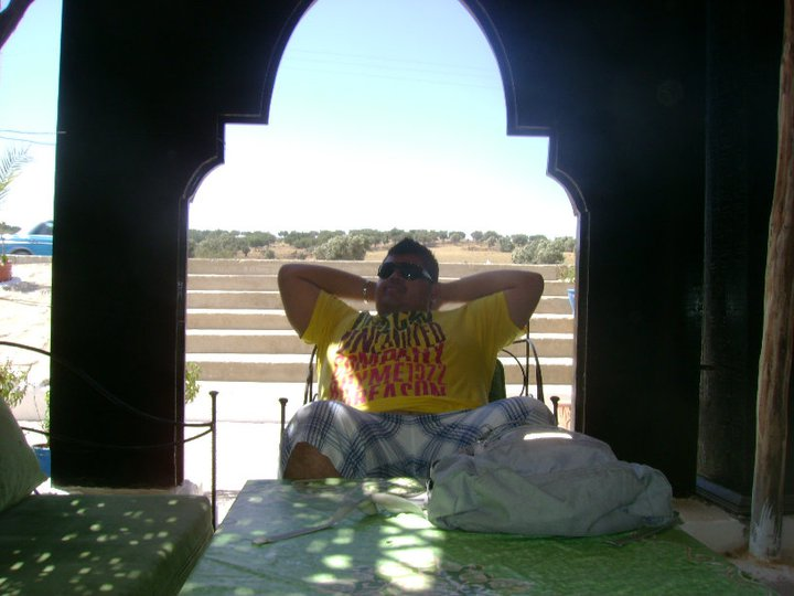 Relaxing on our way to Essaouira