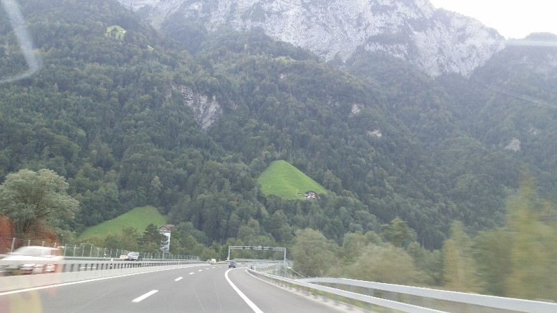on the way to Gottard tunnel