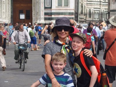 Me jack and mum and the duomo