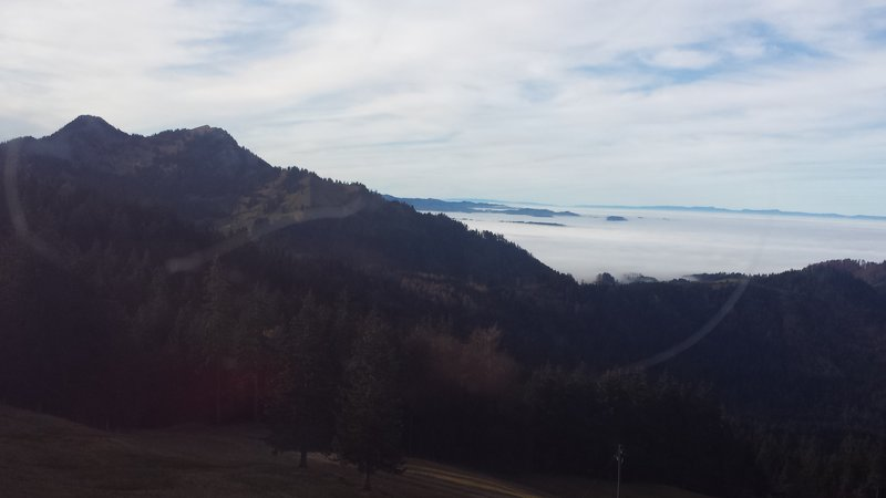The final hike day, we hiked above the cloud line at Pilatus