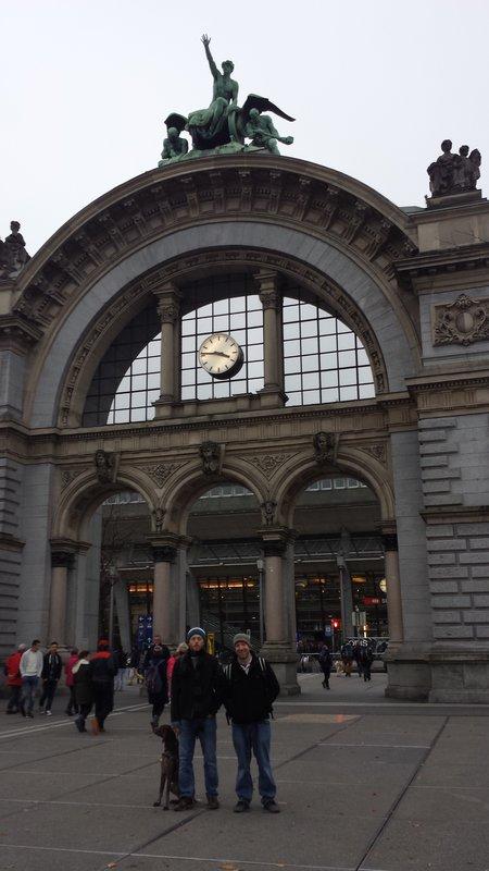 Train station...