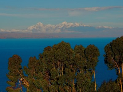 The Bolivian Andes in the distance