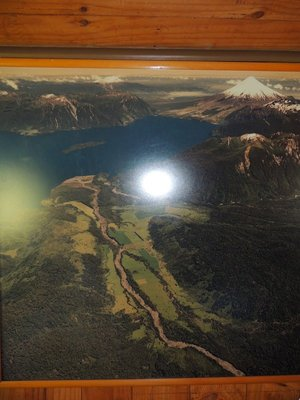 A photo of a photo showing the entire property