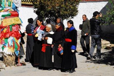 Pilgrims in Pelkhor Chode Monastery