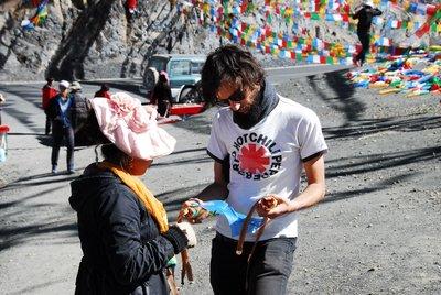 Stefan buying more flags, Mala Dam