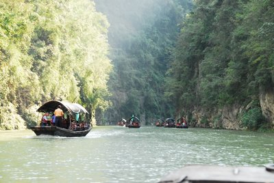 Tourist Sampans in Little 3 Gorges