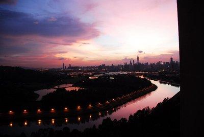 Sunset over Shenzhen
