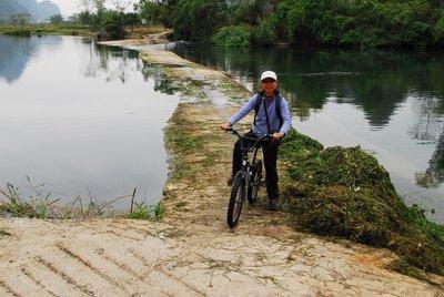 Crossing a weir, Yulong River
