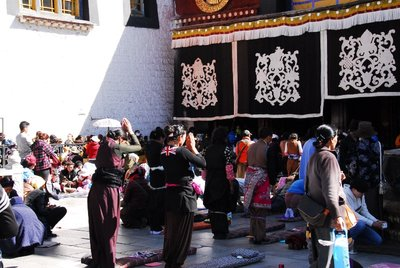 pilgrims at Jokhang Temple