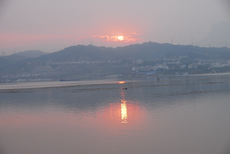 River Sunrise Taiping Creek Port