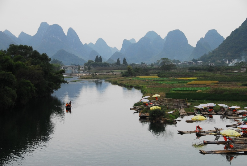 Yulong River from Dragon Bridge