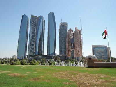 view of Abu Dhabi downtown