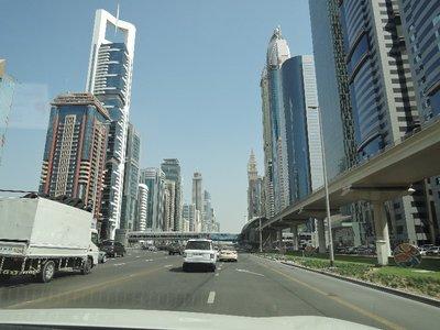 driving through Dubai downtown