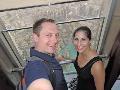 At the top of the Burj Khalifa