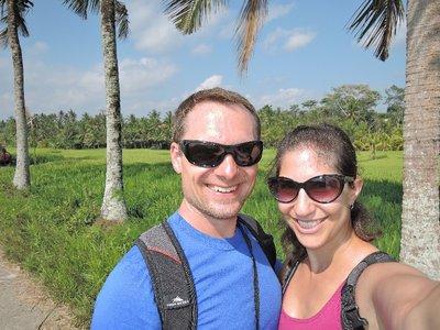 Our trek through the rice fields