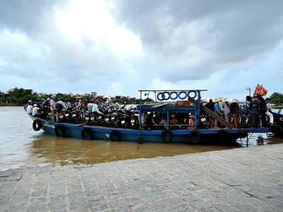typical ferry boat for the locals in Hoi An