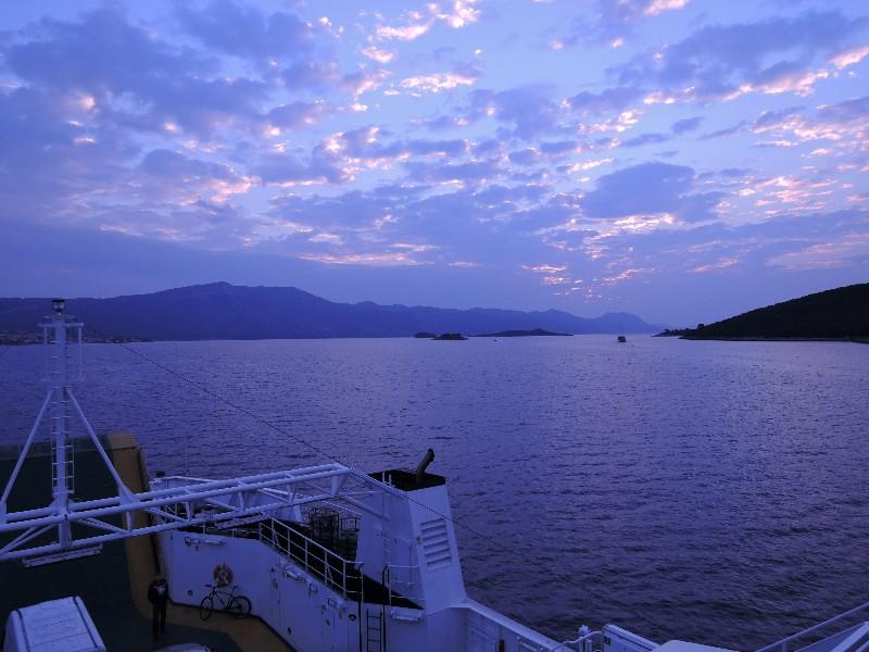 Leaving Korcula at dawn