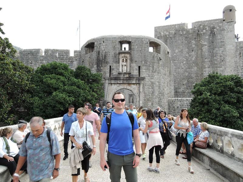 Entering Dubrovnik's Wall