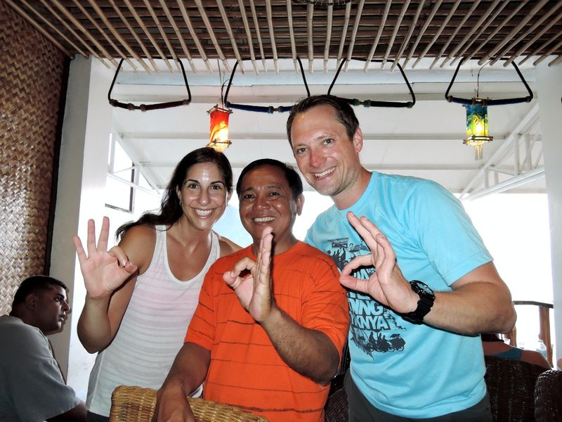 Our dive master Romi