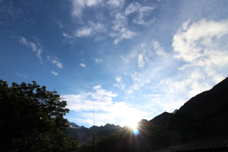 Sunrise from Macchu Picchu