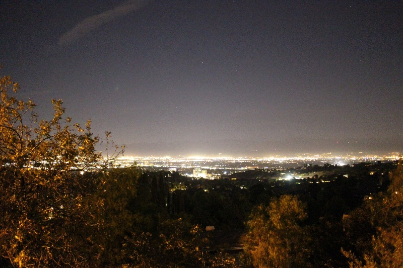 Overexposed shot of L.A. from Mulholland Dr.