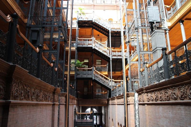 Inside Bradbury building